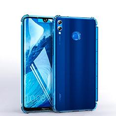 Silikon Schutzhülle Ultra Dünn Tasche Durchsichtig Transparent H03 für Huawei Honor 8X Max Hellblau