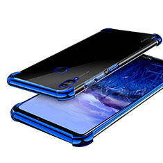 Silikon Schutzhülle Ultra Dünn Tasche Durchsichtig Transparent H03 für Huawei Honor Note 10 Blau