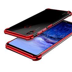 Silikon Schutzhülle Ultra Dünn Tasche Durchsichtig Transparent H03 für Huawei Honor Note 10 Rot