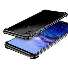 Silikon Schutzhülle Ultra Dünn Tasche Durchsichtig Transparent H03 für Huawei Honor Note 10 Schwarz