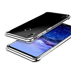 Silikon Schutzhülle Ultra Dünn Tasche Durchsichtig Transparent H03 für Huawei Honor Note 10 Silber