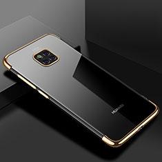 Silikon Schutzhülle Ultra Dünn Tasche Durchsichtig Transparent H03 für Huawei Mate 20 Pro Gold