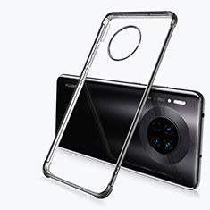 Silikon Schutzhülle Ultra Dünn Tasche Durchsichtig Transparent H03 für Huawei Mate 30 Schwarz