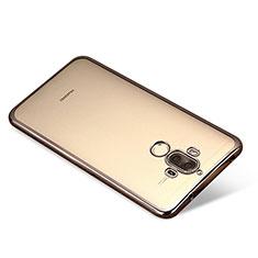 Silikon Schutzhülle Ultra Dünn Tasche Durchsichtig Transparent H03 für Huawei Mate 9 Schwarz