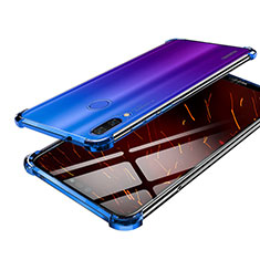 Silikon Schutzhülle Ultra Dünn Tasche Durchsichtig Transparent H03 für Huawei Nova 3 Blau