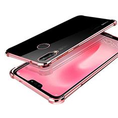 Silikon Schutzhülle Ultra Dünn Tasche Durchsichtig Transparent H03 für Huawei Nova 3 Rosegold
