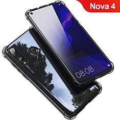 Silikon Schutzhülle Ultra Dünn Tasche Durchsichtig Transparent H03 für Huawei Nova 4 Grau