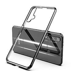 Silikon Schutzhülle Ultra Dünn Tasche Durchsichtig Transparent H03 für Huawei Nova 5T Schwarz