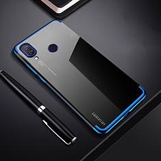 Silikon Schutzhülle Ultra Dünn Tasche Durchsichtig Transparent H03 für Huawei P Smart+ Plus Blau