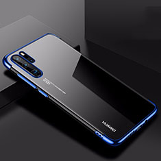 Silikon Schutzhülle Ultra Dünn Tasche Durchsichtig Transparent H03 für Huawei P30 Pro Blau