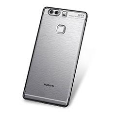 Silikon Schutzhülle Ultra Dünn Tasche Durchsichtig Transparent H03 für Huawei P9 Grau