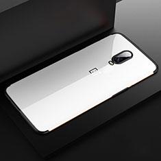 Silikon Schutzhülle Ultra Dünn Tasche Durchsichtig Transparent H03 für OnePlus 6T Schwarz