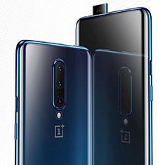 Silikon Schutzhülle Ultra Dünn Tasche Durchsichtig Transparent H03 für OnePlus 7 Pro Blau