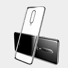 Silikon Schutzhülle Ultra Dünn Tasche Durchsichtig Transparent H03 für OnePlus 7 Pro Schwarz