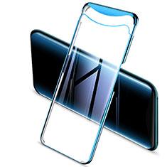 Silikon Schutzhülle Ultra Dünn Tasche Durchsichtig Transparent H03 für Oppo Find X Blau