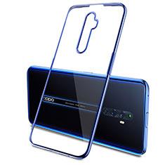 Silikon Schutzhülle Ultra Dünn Tasche Durchsichtig Transparent H03 für Oppo Reno2 Z Blau