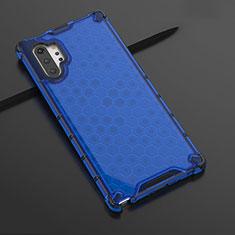 Silikon Schutzhülle Ultra Dünn Tasche Durchsichtig Transparent H03 für Samsung Galaxy Note 10 Plus Blau