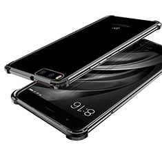 Silikon Schutzhülle Ultra Dünn Tasche Durchsichtig Transparent H03 für Xiaomi Mi 6 Schwarz