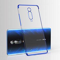 Silikon Schutzhülle Ultra Dünn Tasche Durchsichtig Transparent H03 für Xiaomi Mi 9T Blau