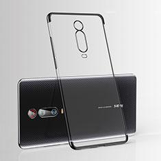 Silikon Schutzhülle Ultra Dünn Tasche Durchsichtig Transparent H03 für Xiaomi Mi 9T Schwarz