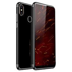 Silikon Schutzhülle Ultra Dünn Tasche Durchsichtig Transparent H03 für Xiaomi Mi Mix 2S Schwarz
