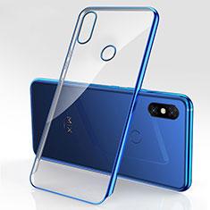 Silikon Schutzhülle Ultra Dünn Tasche Durchsichtig Transparent H03 für Xiaomi Mi Mix 3 Blau