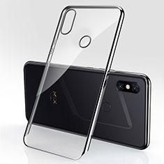 Silikon Schutzhülle Ultra Dünn Tasche Durchsichtig Transparent H03 für Xiaomi Mi Mix 3 Schwarz