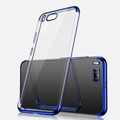 Silikon Schutzhülle Ultra Dünn Tasche Durchsichtig Transparent H03 für Xiaomi Mi Note 3 Blau
