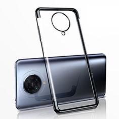 Silikon Schutzhülle Ultra Dünn Tasche Durchsichtig Transparent H03 für Xiaomi Poco F2 Pro Schwarz