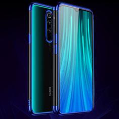 Silikon Schutzhülle Ultra Dünn Tasche Durchsichtig Transparent H03 für Xiaomi Redmi Note 8 Pro Blau