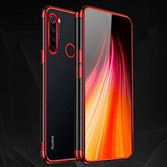 Silikon Schutzhülle Ultra Dünn Tasche Durchsichtig Transparent H03 für Xiaomi Redmi Note 8T Rot