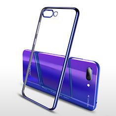 Silikon Schutzhülle Ultra Dünn Tasche Durchsichtig Transparent H04 für Huawei Honor 10 Blau