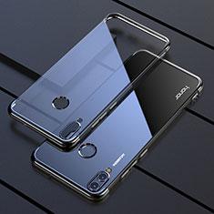 Silikon Schutzhülle Ultra Dünn Tasche Durchsichtig Transparent H04 für Huawei Honor 8X Schwarz