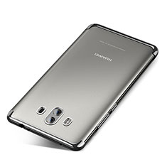 Silikon Schutzhülle Ultra Dünn Tasche Durchsichtig Transparent H04 für Huawei Mate 10 Silber