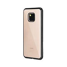 Silikon Schutzhülle Ultra Dünn Tasche Durchsichtig Transparent H04 für Huawei Mate 20 Pro Schwarz