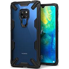 Silikon Schutzhülle Ultra Dünn Tasche Durchsichtig Transparent H04 für Huawei Mate 20 Schwarz