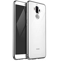 Silikon Schutzhülle Ultra Dünn Tasche Durchsichtig Transparent H04 für Huawei Mate 9 Silber