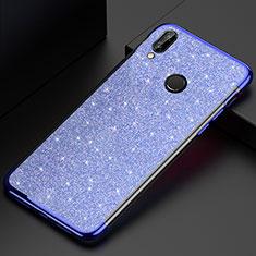 Silikon Schutzhülle Ultra Dünn Tasche Durchsichtig Transparent H04 für Huawei P20 Lite Blau