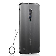 Silikon Schutzhülle Ultra Dünn Tasche Durchsichtig Transparent H04 für Oppo Reno 10X Zoom Schwarz
