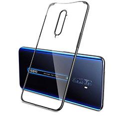 Silikon Schutzhülle Ultra Dünn Tasche Durchsichtig Transparent H04 für Oppo Reno2 Schwarz