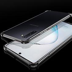 Silikon Schutzhülle Ultra Dünn Tasche Durchsichtig Transparent H04 für Samsung Galaxy Note 10 Plus Schwarz