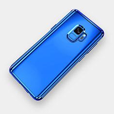 Silikon Schutzhülle Ultra Dünn Tasche Durchsichtig Transparent H04 für Samsung Galaxy S9 Blau