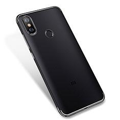 Silikon Schutzhülle Ultra Dünn Tasche Durchsichtig Transparent H04 für Xiaomi Mi 6X Schwarz
