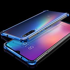 Silikon Schutzhülle Ultra Dünn Tasche Durchsichtig Transparent H04 für Xiaomi Mi 9 Blau