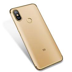 Silikon Schutzhülle Ultra Dünn Tasche Durchsichtig Transparent H04 für Xiaomi Mi A2 Gold