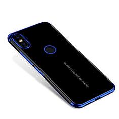 Silikon Schutzhülle Ultra Dünn Tasche Durchsichtig Transparent H04 für Xiaomi Mi Mix 2S Blau