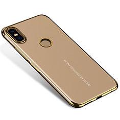 Silikon Schutzhülle Ultra Dünn Tasche Durchsichtig Transparent H04 für Xiaomi Mi Mix 2S Gold