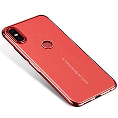 Silikon Schutzhülle Ultra Dünn Tasche Durchsichtig Transparent H04 für Xiaomi Mi Mix 2S Rot