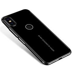 Silikon Schutzhülle Ultra Dünn Tasche Durchsichtig Transparent H04 für Xiaomi Mi Mix 2S Schwarz