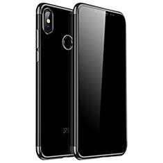 Silikon Schutzhülle Ultra Dünn Tasche Durchsichtig Transparent H04 für Xiaomi Redmi Note 5 AI Dual Camera Schwarz
